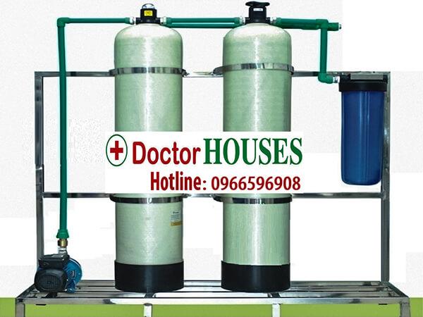 Thiết bị lọc nước máy đầu nguồn nhiễm Mangan, Canxi, Asen
