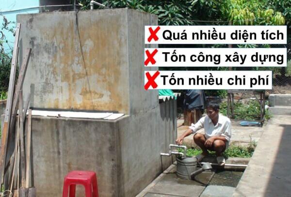 Bể lọc nước tự xây