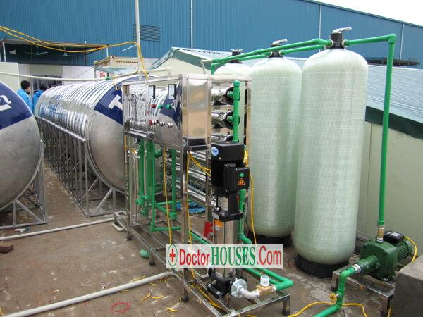 Công trình lắp đặt dây chuyền lọc nước tinh khiết 1500 lít