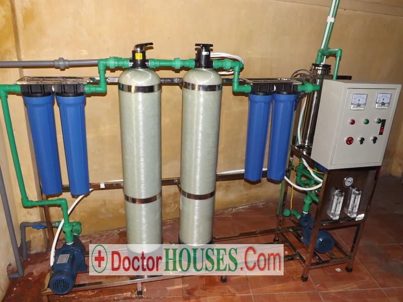 Dây chuyền lọc nước tinh khiết cho trường học công suất 125 lít/giờ