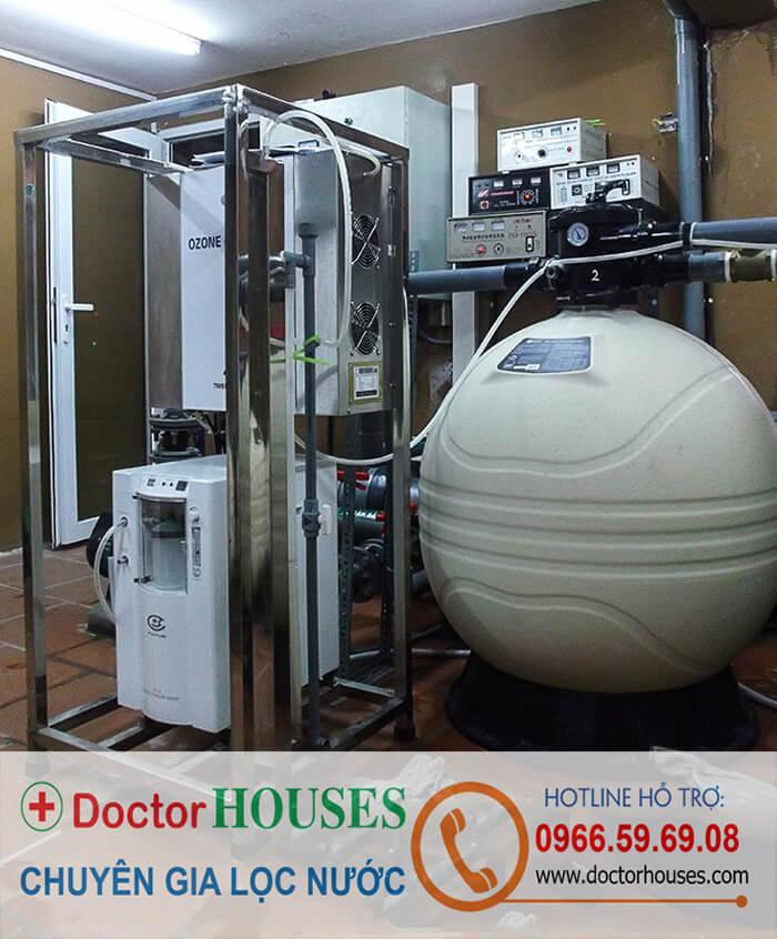 Hệ thống máy Ozone chuyên xử lý nước bể bơi
