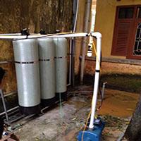 Công trình xử lý nước tại Công an Huyện Mỹ Đức