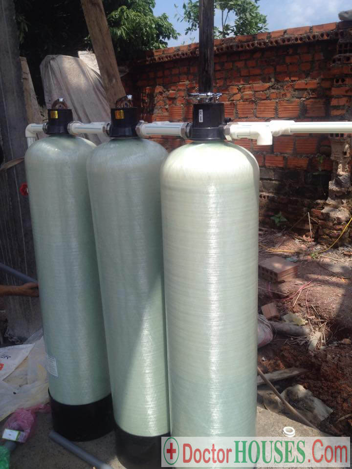 Xử lý nước giếng khoan tại Lạng Giang - Bắc Giang