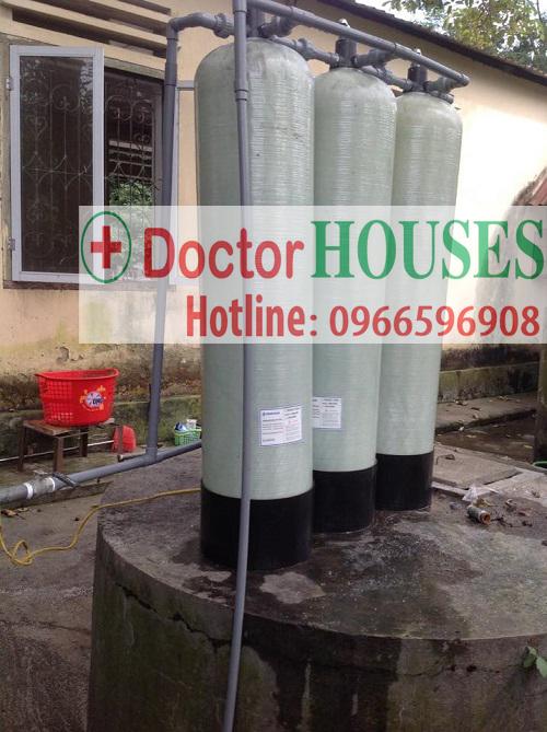 Xử lý nước giếng khoan nhiễm tạp chất nặng tại Cao Bằng