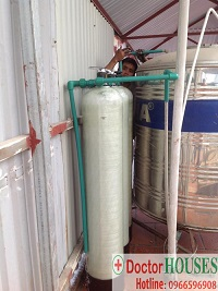 Công trình xử lý nước máy tại nhà anh Dũng – Đội Cấn