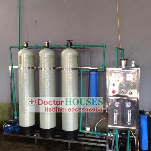 Dây chuyền lọc nước tinh khiết 250L tại Hưng Yên