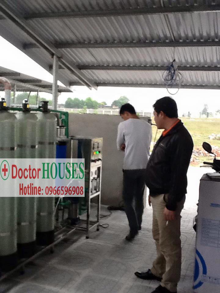 Dây chuyền lọc nước 250L ở nhà máy may Namsung Vina