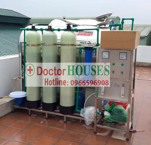 Dây chuyền lọc nước tinh khiết 250l/h tại Quận Bắc Từ Liêm