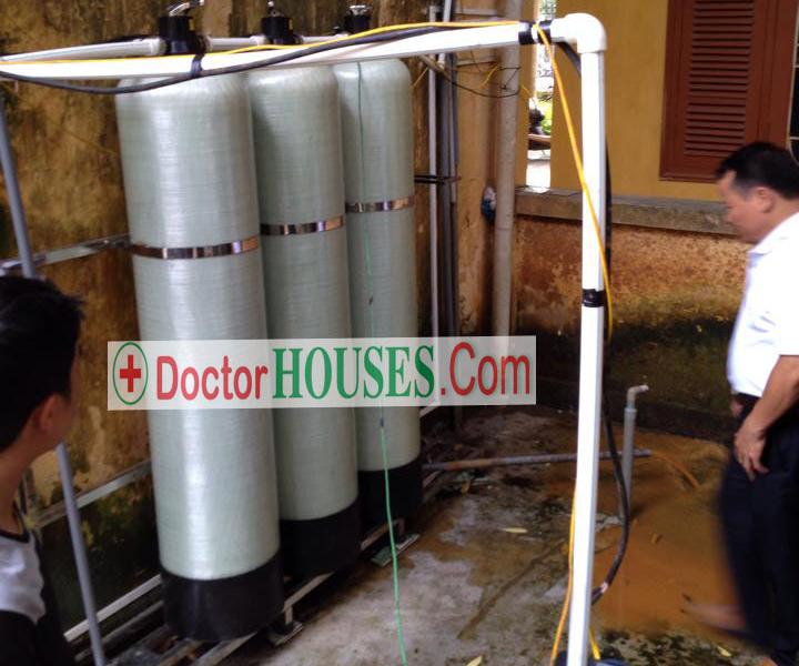 sử dụng cột lọc composite trong hệ thống lọc nước sinh hoạt gia đình