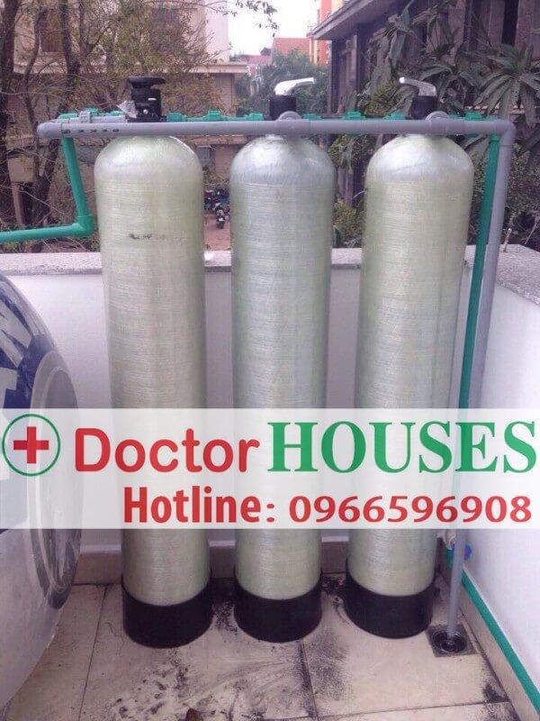 Bộ lọc DHGK03 xử lý nước giếng khoan nhiễm sắt phèn tại nhà chú Sáu