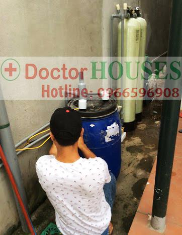 Xử lý nước giếng khoan có mùi tanh, nhiễm sắt, mangan tại Phương Canh, Nam Từ Liêm