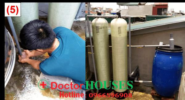 DoctorHouses kiểm tra lại hệ thống lọc nước lần cuối trước khi bàn giao cho khách hàng.