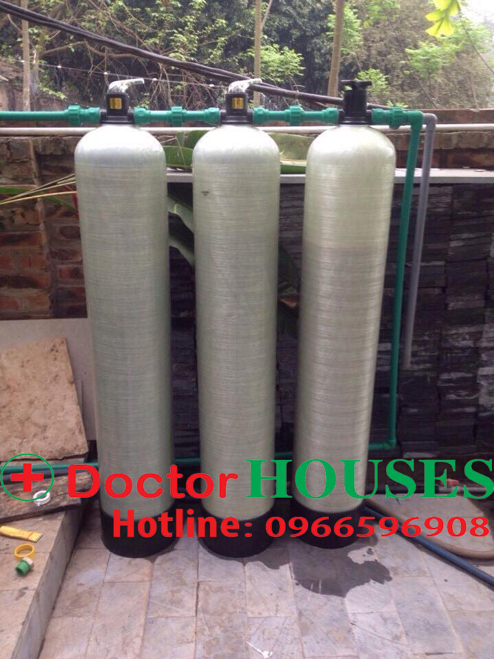 Xử lý nước giếng khoan nhiễm sắt, mangan, canxi tại Ba Vì