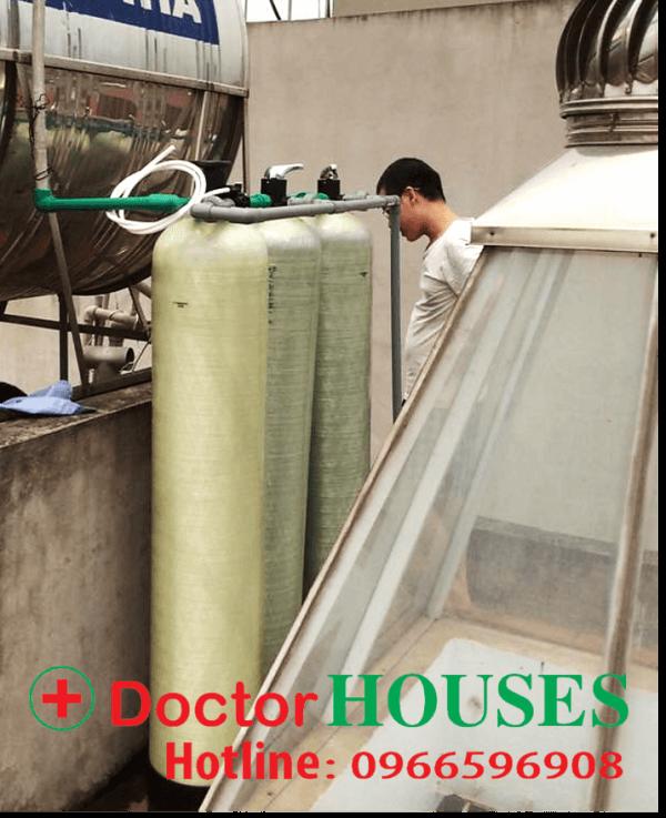 Bộ lọc DH03-chuyên xử lý nước máy nhiễm sắt, canxi, mangan, asen tại nhà anh Tài