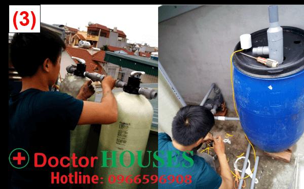 lắp đặt bộ lọc DHGK02 - xử lý nước giếng khoan nhiễm sắt tại Tây Hồ