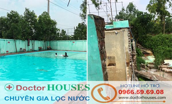 Bể bơi tại Phú Xuyên và Bể lọc cũ đã không đảm bảo