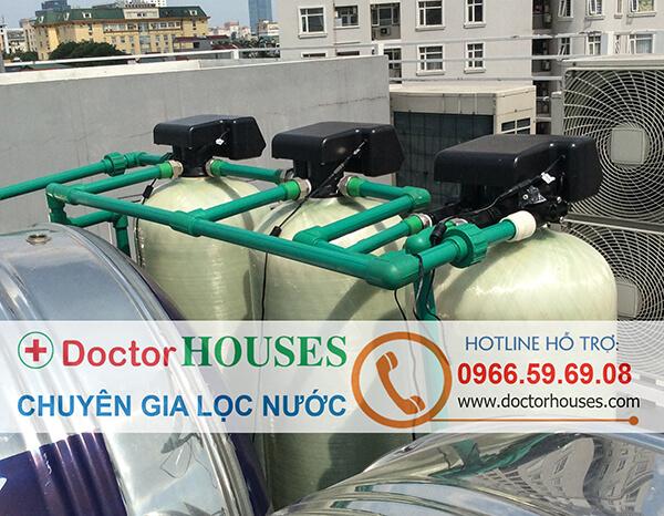 Lắp đặt hoàn tất hệ thống lọc nước sinh hoạt autoval cao cấp