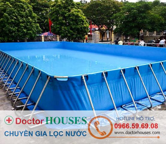 Lắp đặt hệ thống lọc nước bể bơi di động tại Ninh Hiệp, Bắc Ninh
