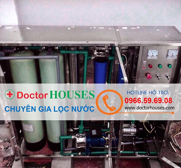 Dây chuyền lọc nước 250l/h tại nhà anh Hưng – Vinhomes
