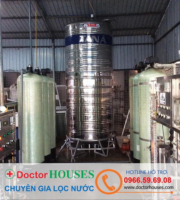 Dây chuyền lọc nước tinh khiết 1500 lít tại Thanh Hóa