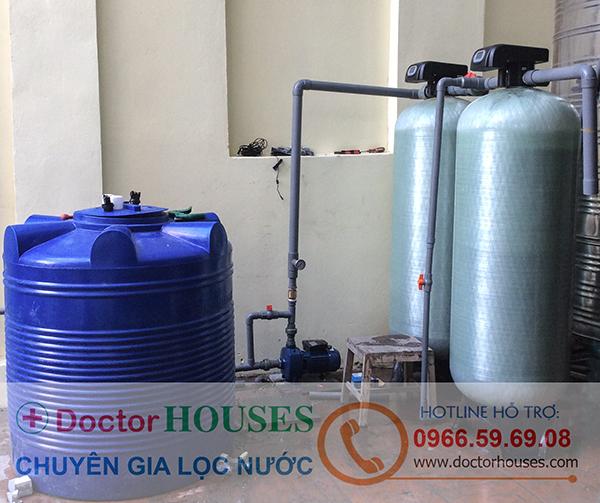 Hệ thống lọc nước giếng khoan công nghiệp công suất 5m3/h autoval