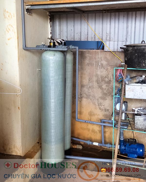 Lắp đặt bộ lọc nước giếng khoan sinh hoạt gia đình tại Yên Mỹ, Hưng yên