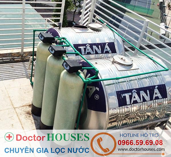 Lắp đặt hoàn tất hệ thống lọc nước autoval cao cấp