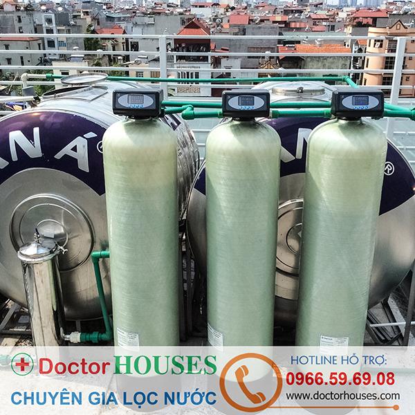 Lắp đặt hệ thống lọc nước sinh hoạt cao cấp autoval tại KĐT Nam Cường, Cổ Nhuế, Hà Nội