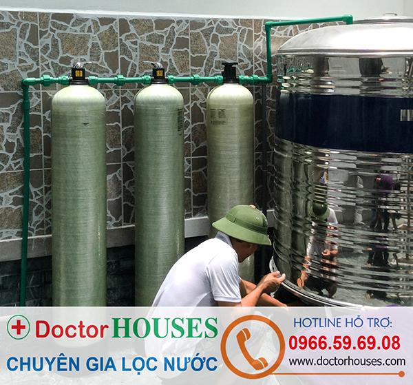Lắp đặt bộ lọc nước máy sinh hoạt gia đình tại nhà chú Sáu, TP Bắc Ninh
