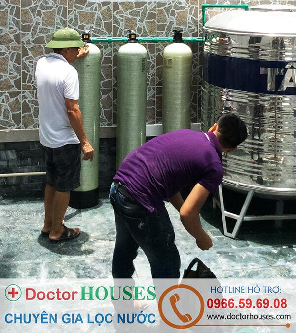 Hệ thống lọc nước sinh hoạt gia đình chuyên xử lý canxi công nghệ DoctorHouses