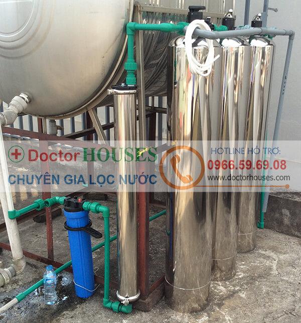 Hình ảnh thực tế: Hệ thống lọc nước giếng khoan cao cấp tại Nhà Chị Nguyệt