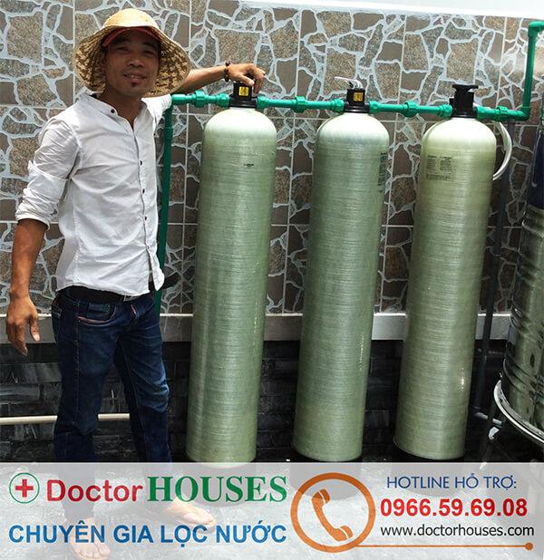 Bộ lọc nước máy sinh hoạt gia đình DH03 - nhà chú Sáu