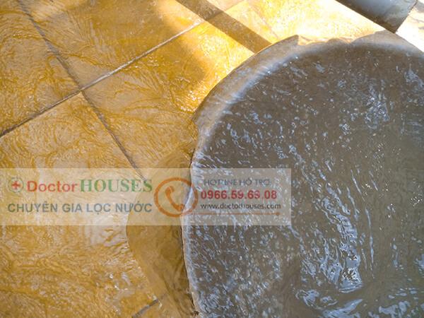 Nước giếng khoan nhiễm sắt, mangan tại Ngô Thì Nhậm