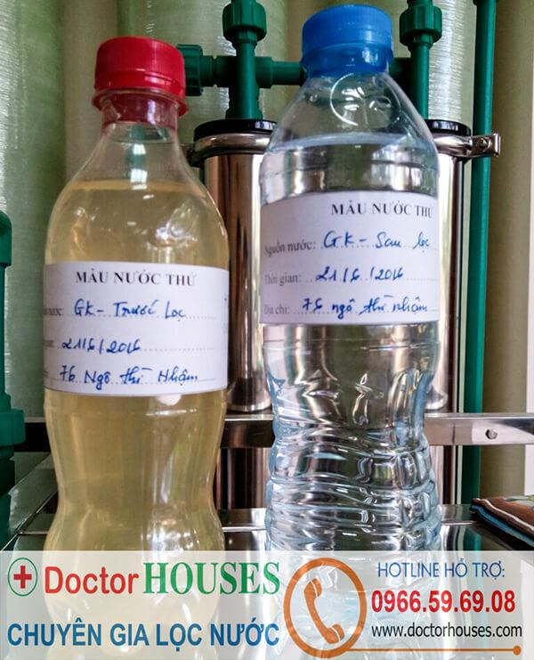 Hệ thống lọc DoctorHouses cam kết nước sau lọc đạt chuẩn của BYT