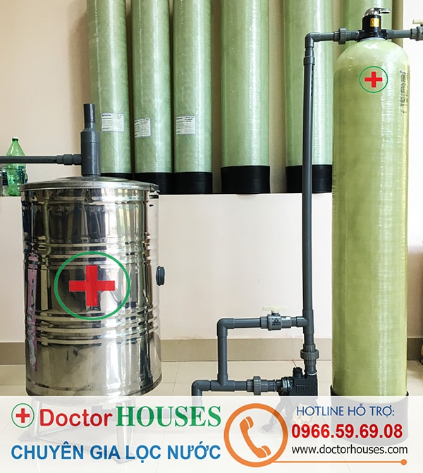 Thiết bị lọc nước giếng khoan sinh hoạt gia đình khử Sắt, Asen – DHGK01