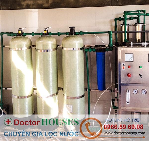Dây chuyền lọc nước tinh khiết 500 lít/giờ tại Lai Châu