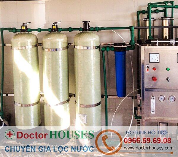 Dây chuyền lọc nước tinh khiết 12m3/ngày đêm tại Lai Châu