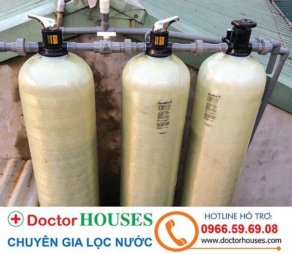 Bộ lọc nước giếng khoan sinh hoạt gia đình DHGK-03 sau khi hoàn thiện