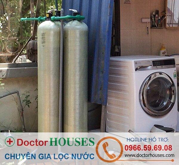 Thiết bị lọc nước giếng khoan sinh hoạt gia đình tại nhà người quen chị Ngọc