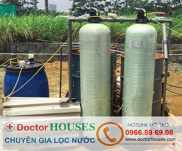 Hệ thống lọc nước rửa xe ô tô tại Bãi rửa xe Đền Lừ