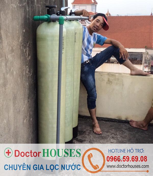 Hệ thống lọc nước giếng khoan tại nhà chị Ngọc, Nam Định