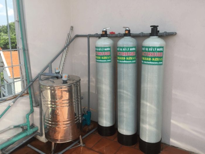 xử lý nước giếng khoan gia đình