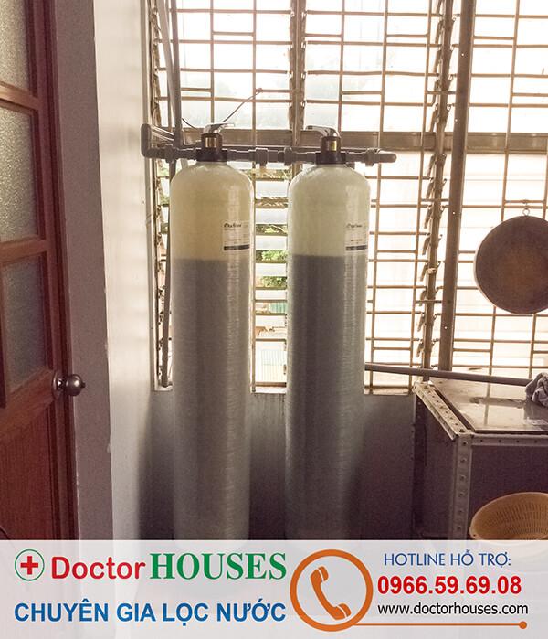 Bộ lọc nước máy sinh hoạt gia đình DH02 tại nhà chị Lan