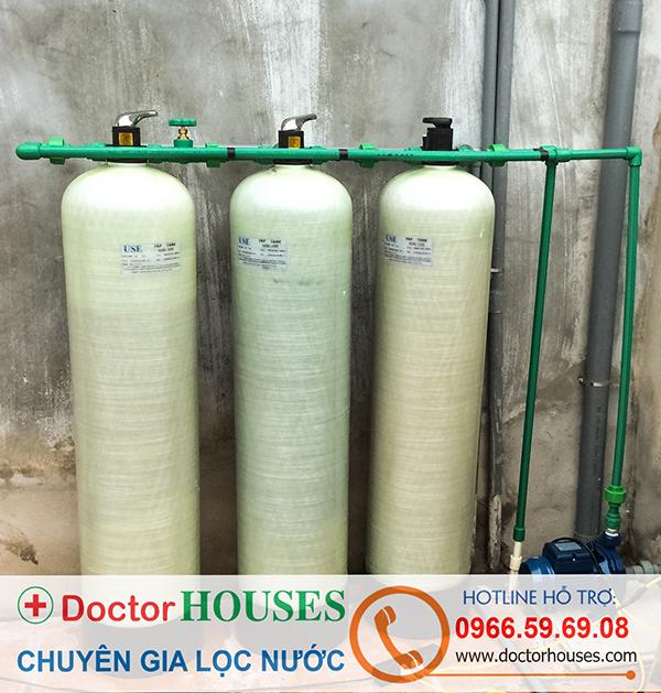 Bộ lọc nước giếng khoan sinh hoạt tại nhà anh Đông, Lạng Giang, Bắc Giang