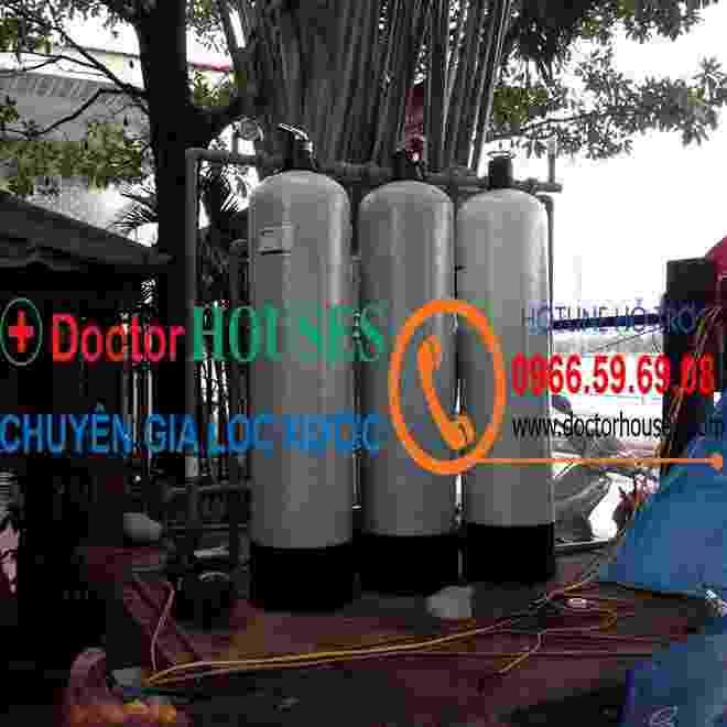 Công trình xử lý nước giếng khoan nhiễm sắt, asen, mangan tại 100 Quảng An, Tây Hồ, Hà Nội
