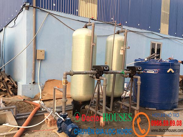Lọc nước giếng khoan công nghiệp công suất 5m3/h autoval tại Tam Nông Phú Thọ