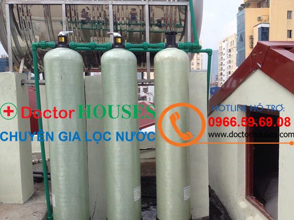 Công trình xử lý nước giếng khoan nhiễm sắt, mangan, canxi tại Đại Từ, tỉnh Thái Nguyên