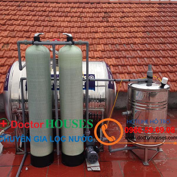 Công trình lắp đặt hệ thống lọc nước giếng khoan tại Đình thôn, Mỹ Đình, Từ Liêm, Hà Nội