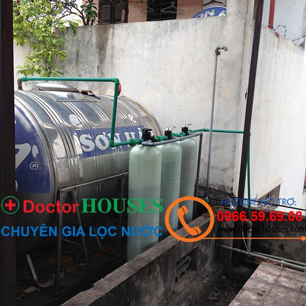 Lắp đặt hệ thống lọc nước giếng khoan sinh hoạt gia đình nhiễm Sắt, Mangan, Canxi, Asen tại Phủ lý, Hà Nam
