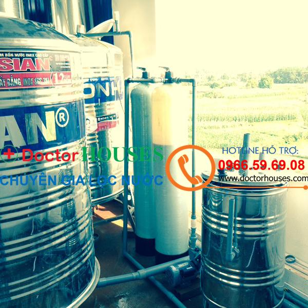 Xử lý nước giếng khoan nhiễm sắt, asen tại Xã Tiên Dược, Sóc Sơn, Hà Nội